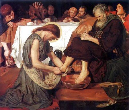 Christ Washing Peter - FM Brown