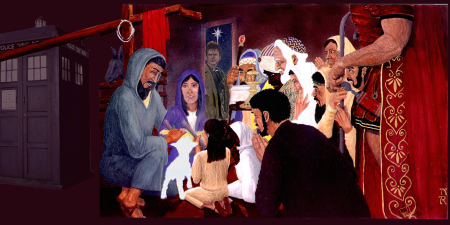 Adoration of the Magi and a Time Lord