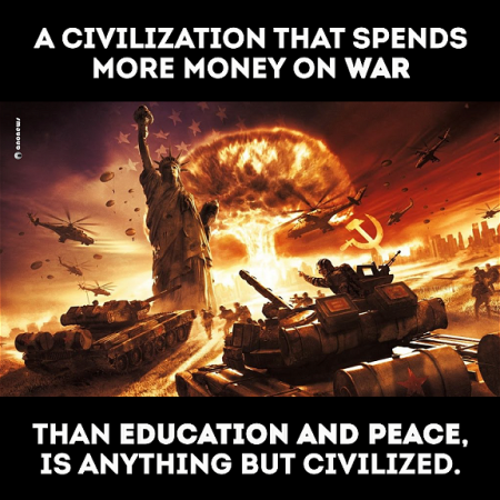 A Civilization that Spends More Money on War