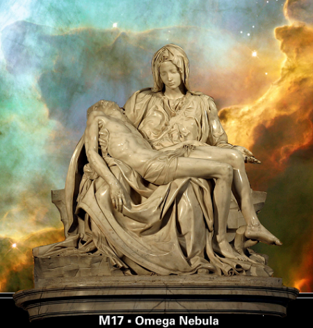 Michelangelo's Pieta_Omega Nebula
