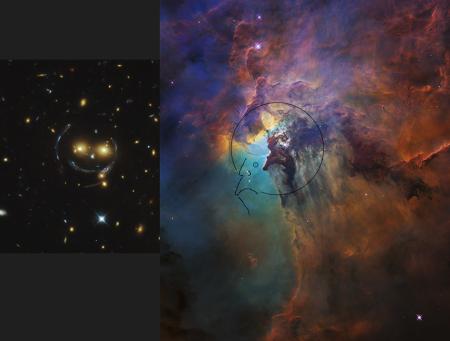 Lagoon Nebula_Smiling Galaxy Cluster